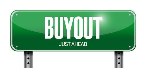 buyout street sign illustration design
