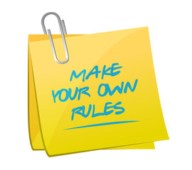 make your own rules memo post