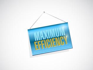 maximum efficiency hanging banner