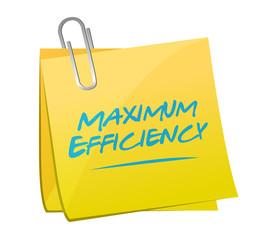 maximum efficiency post illustration