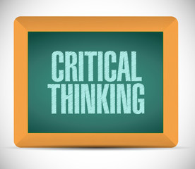 critical thinking board sign illustration