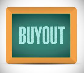 buyout board sign illustration design