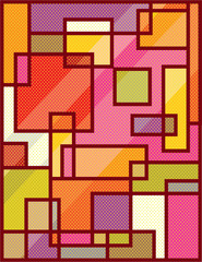 Abstract Squares Pop Art