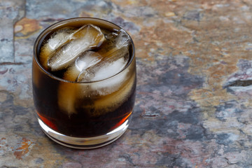 Ice Cold Cola on Natural Slate Stone Setting