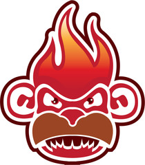 Monkey Face Logo Vector