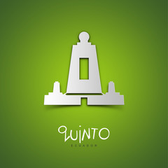Quinto, Ecuador. Green greeting card.