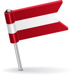 Austrian pin icon flag. Vector illustration
