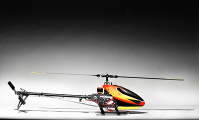 Elegant picture of remote control helicopter
