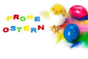 Osterkarte, Frohe Ostern