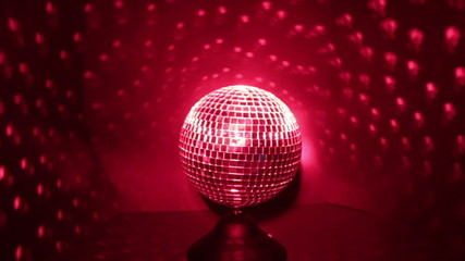 Disco Ball with Red Lights