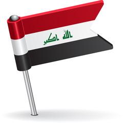 Iraqi pin icon flag. Vector illustration