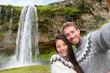 Iceland couple selfie wearing Icelandic sweaters
