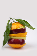 Mixed fruit mix apple orange mandarin