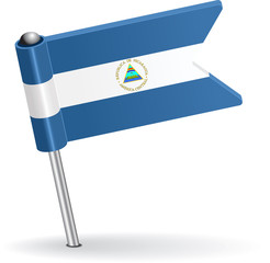 Nicaraguan pin icon flag. Vector illustration
