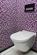 WC suspendu mosaïques mauves