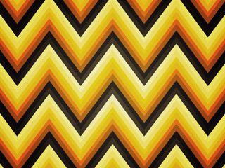 Seventies retro zigzag background. Brown, yellow, orange, red.
