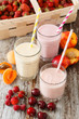 canvas print picture - fruit smoothies
