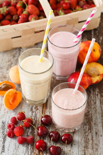 canvas print picture fruit smoothies