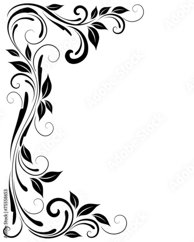 canvas print picture Black ornament