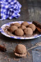 Homemade chocolate truffles.