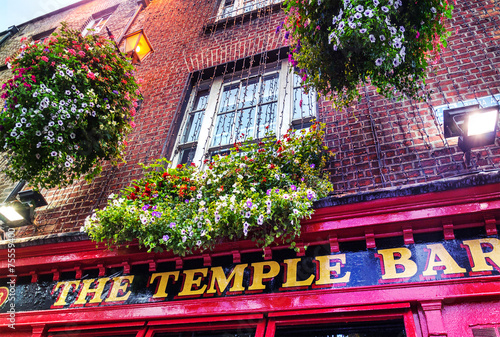 Plexiglas Centraal Europa The Temple Bar – Dublin Irleand