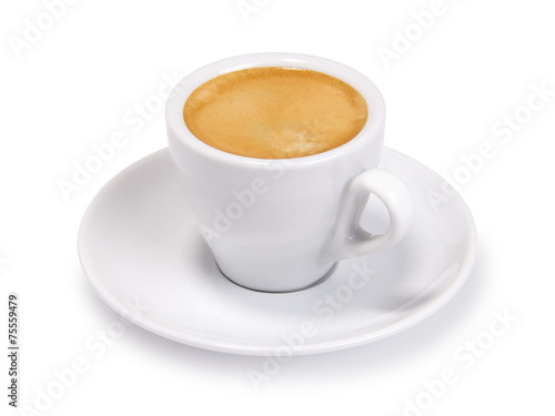 espresso cup isolated