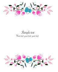 Floral background vector greeting card