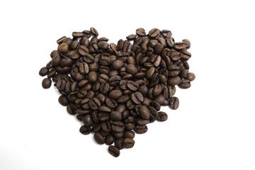 Кофе в форме сердца