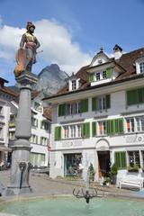 Marktbrunnen in Schwyz