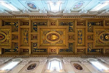 The ceiling of the Basilica di San Giovanni in Laterano, Rome