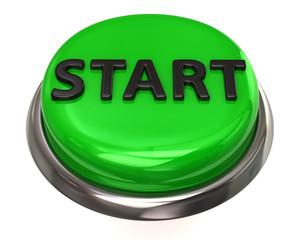 Green glossy start button