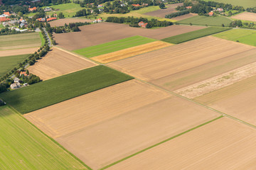 Luftaufnahme von Feldern