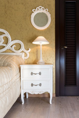White vintage style nightstand