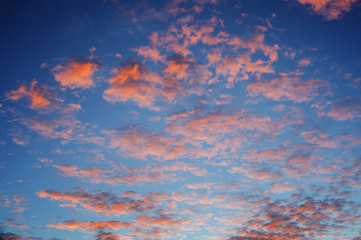 cirrocumulus clouds sunset