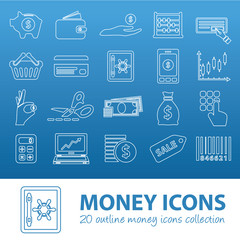 money outline icons