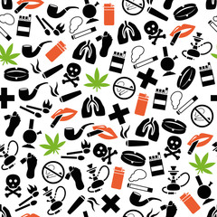 smoking seamless pattern