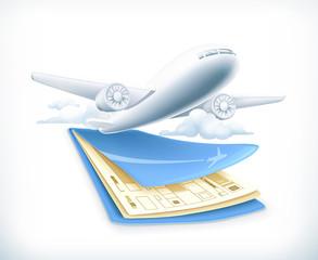 Flights, vector illustration