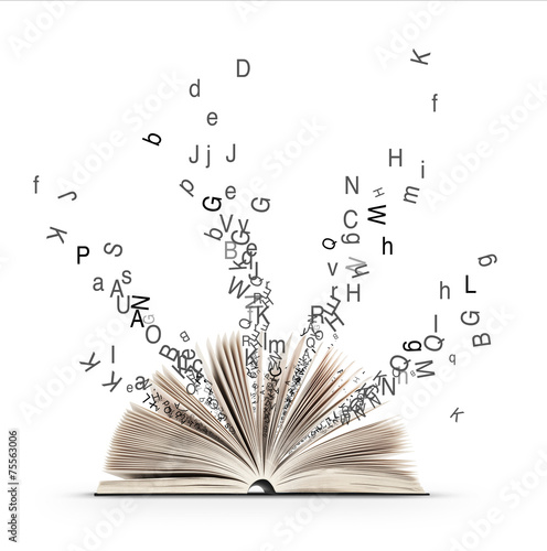 Leinwanddruck Bild Livre et Litterature et Alphabet