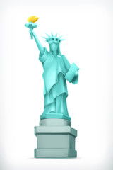 Statue of Liberty, vector illustration