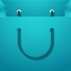 Vector modern shooping bag background