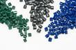 farbiges Kunststoff Granulat - 75564498