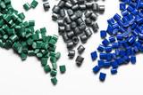 dyed polymer granulates