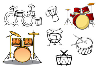 Drum plants and percusiion instruments
