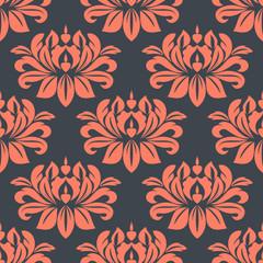 Seamless red peony flowers pattern