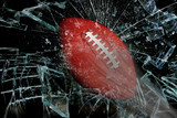 Football through glass.