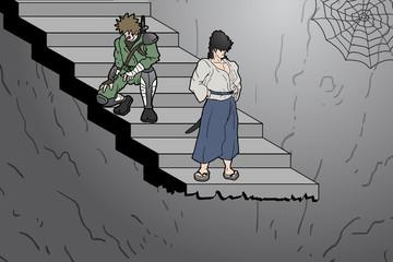 Stair cartoon