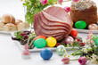 canvas print picture - Honey Sliced Ham For Easter