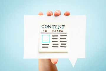 Content is king message concept