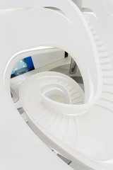 futuristc staircase in modern office building interior