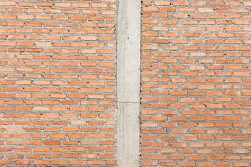 brick wall construction grunge texture background